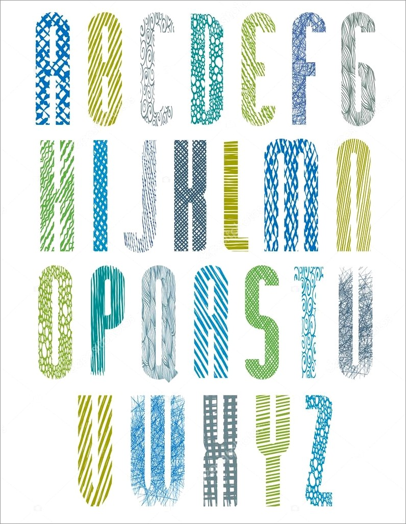 Colorful Alphabet Letters To Print