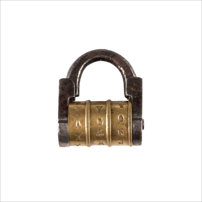 Combination Padlock With Letters