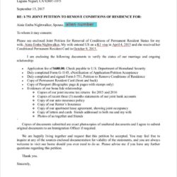 K1 Visa Cover Letter Example