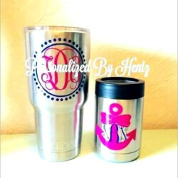 Monogram Letters For Yeti Cups