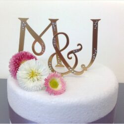Monogram Letters Wedding Cake Toppers