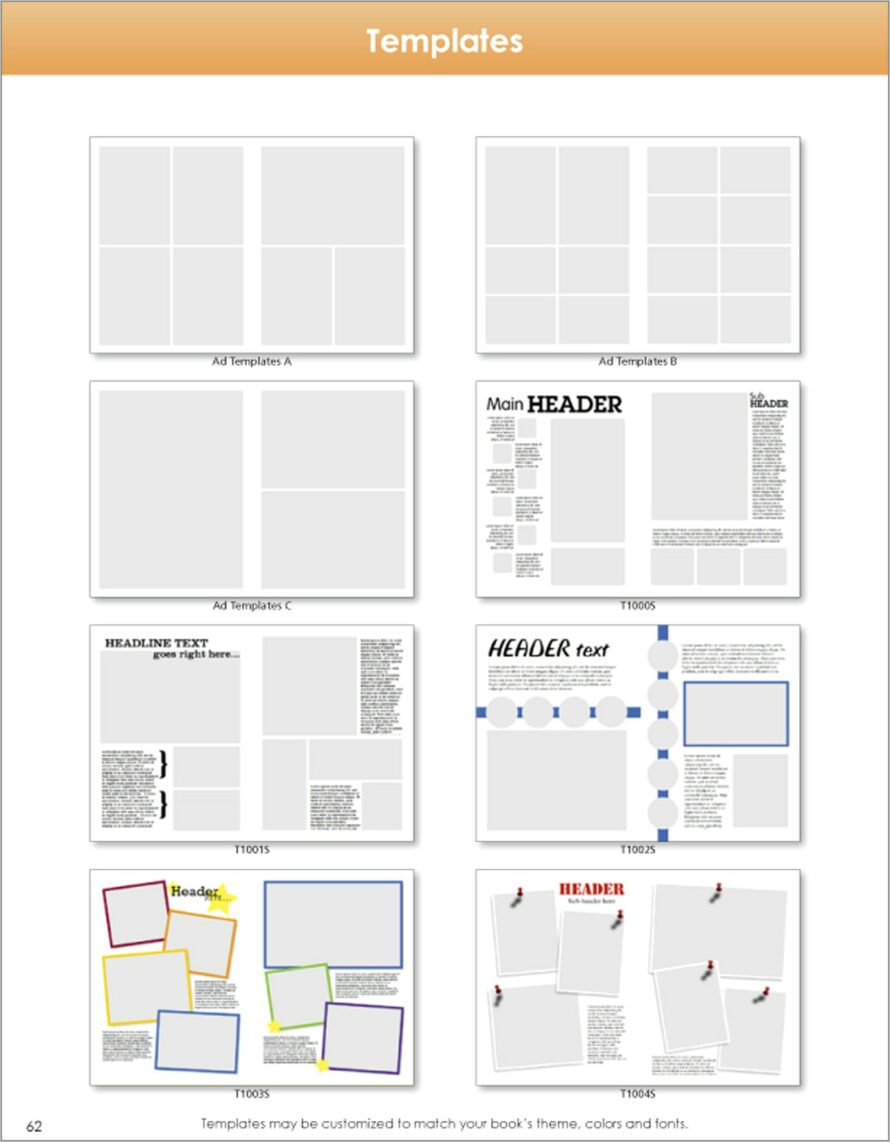 Templates For Yearbook Pages