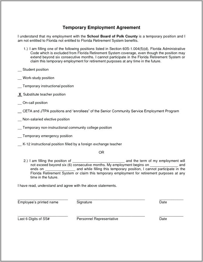 Temporary Employment Contract Sample Singapore
