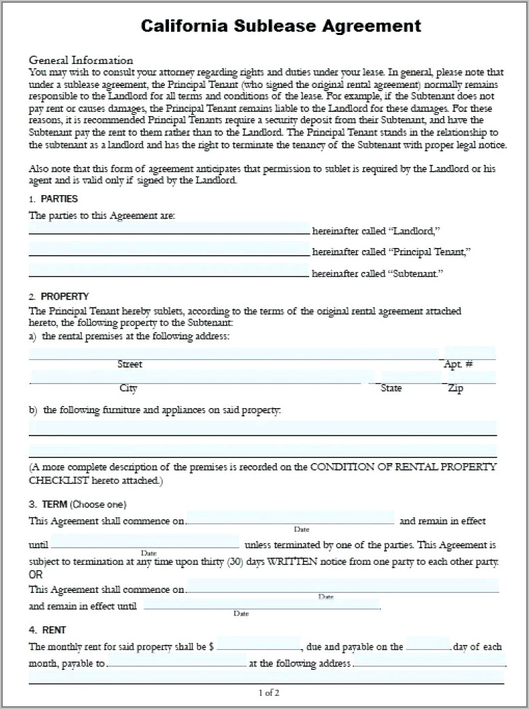 Tenancy Agreement Contract Forms