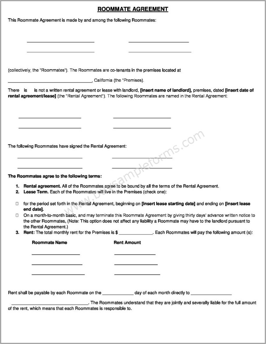 Tenant Agreement Template Word