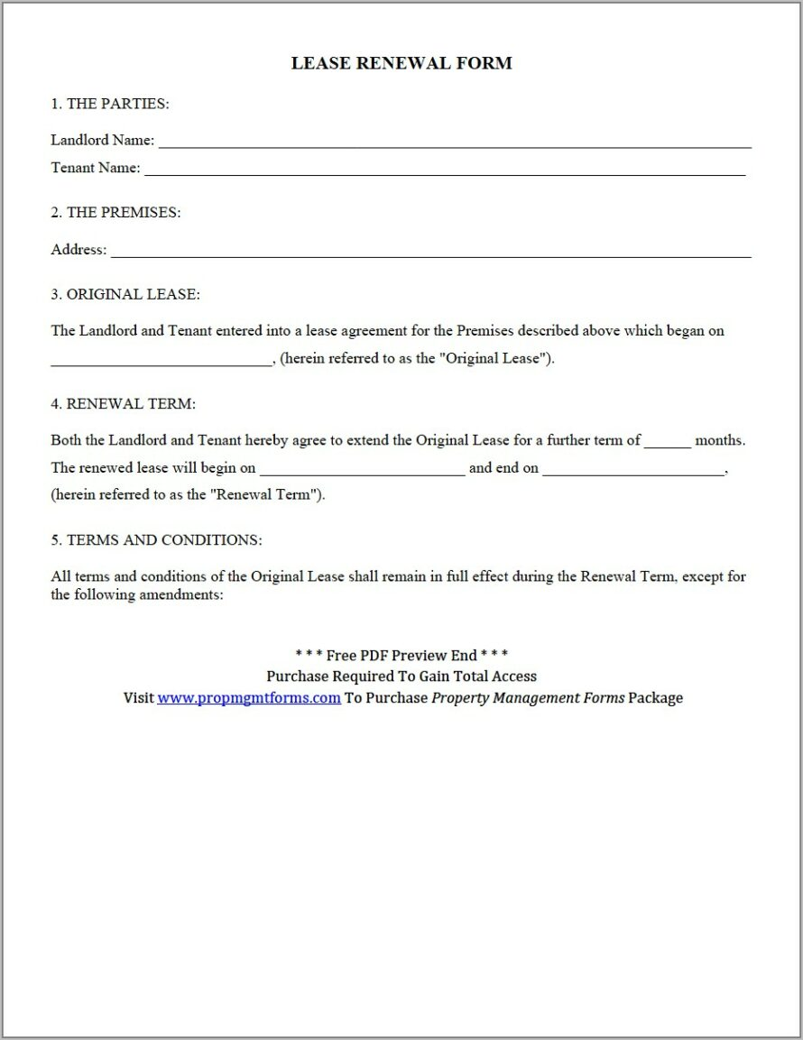 Tenant Notice To Vacate Forms Free