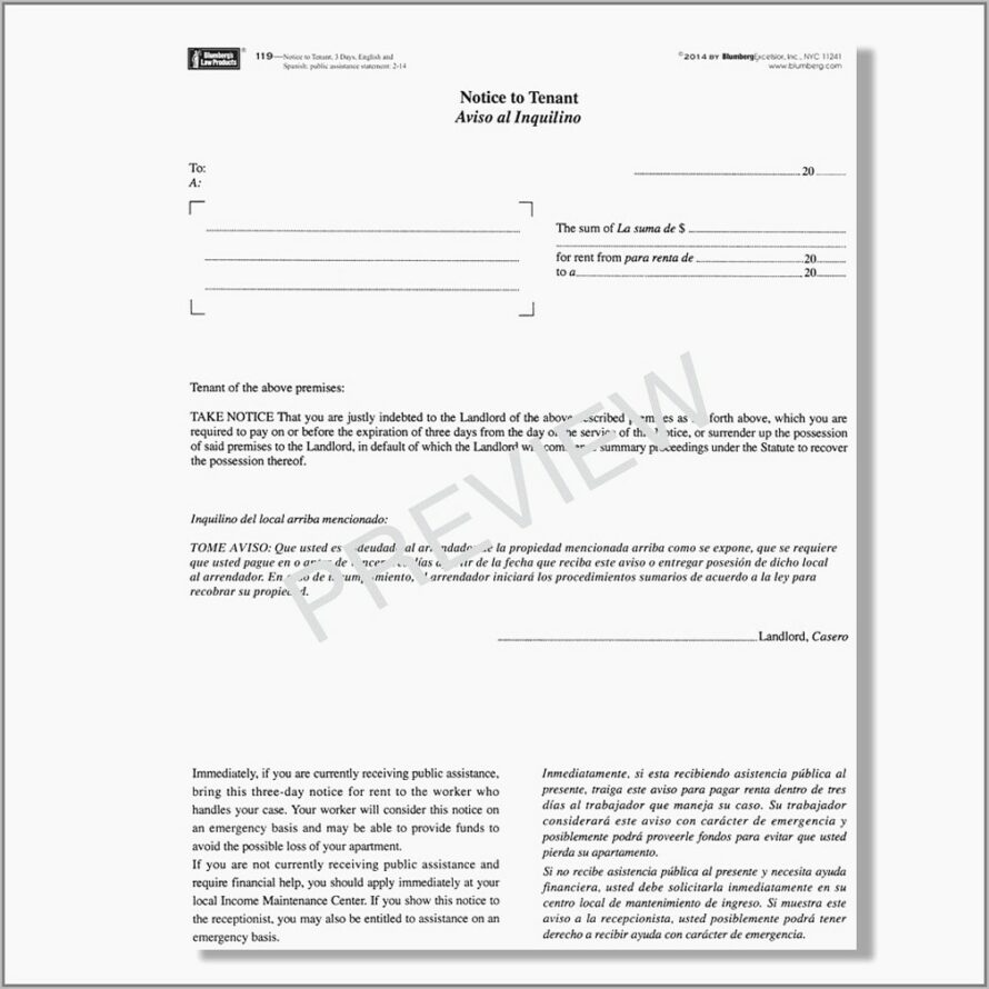 Tenant Notice To Vacate Template Nz