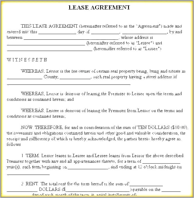Texas Commercial Real Estate Lease Agreement Form