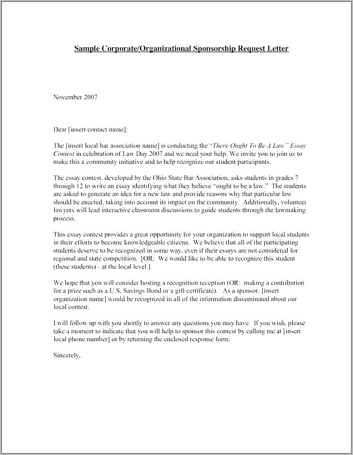 Thank You Letter Template For Monetary Donation