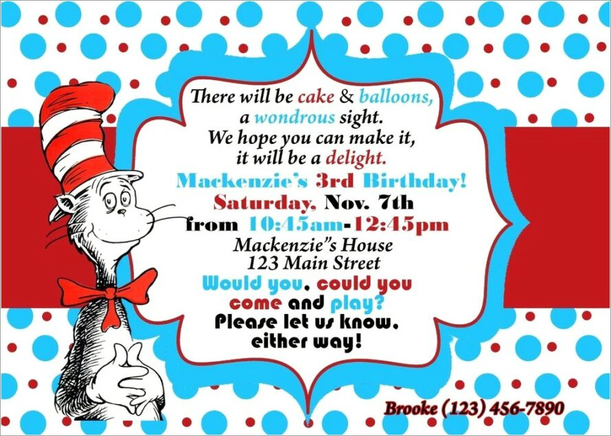 Thing 1 And Thing 2 Birthday Invitations