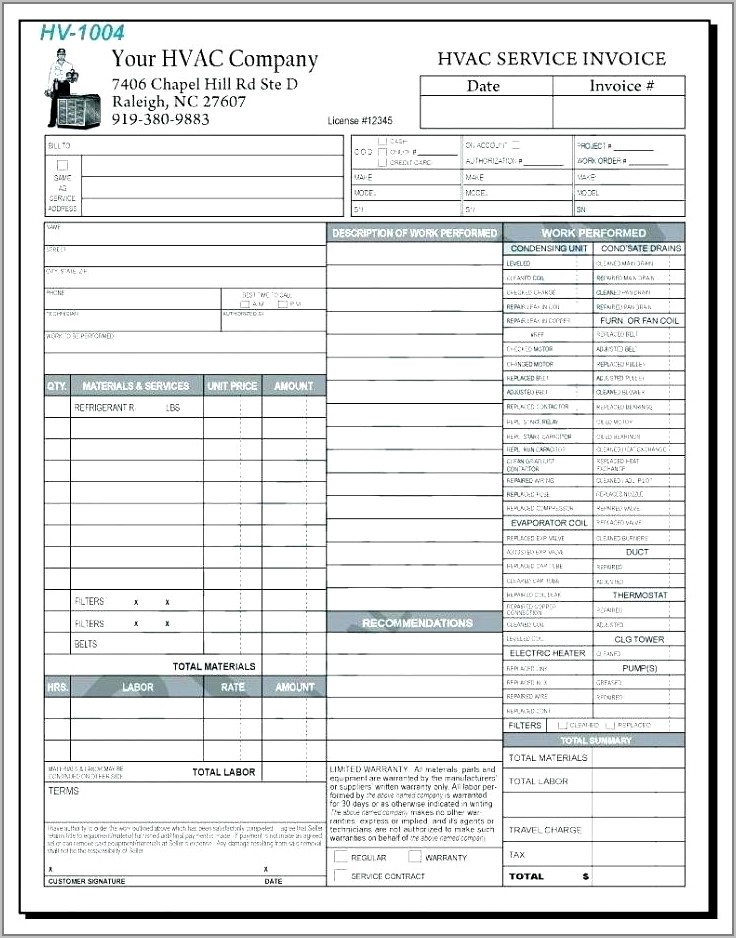 Time And Material Invoice Sample