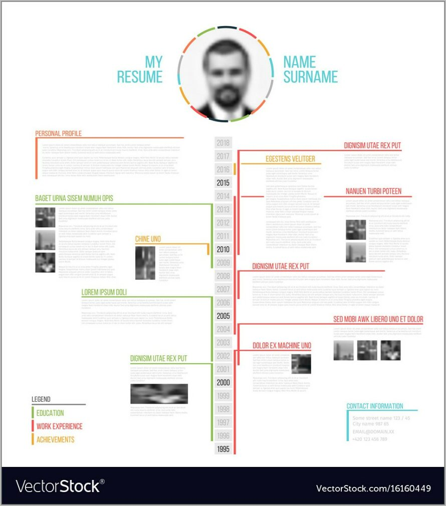 Timeline Resume Template Free