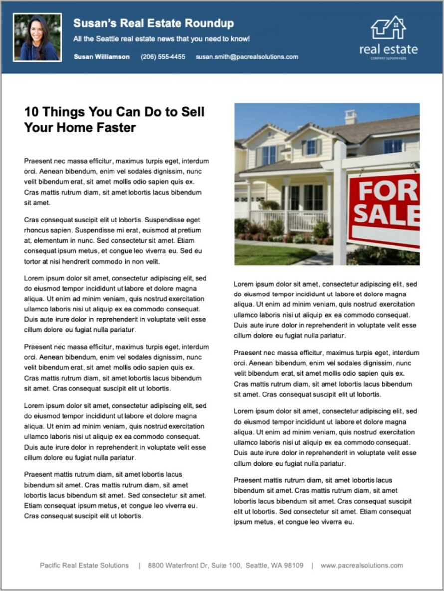 Top Real Estate Newsletter Template