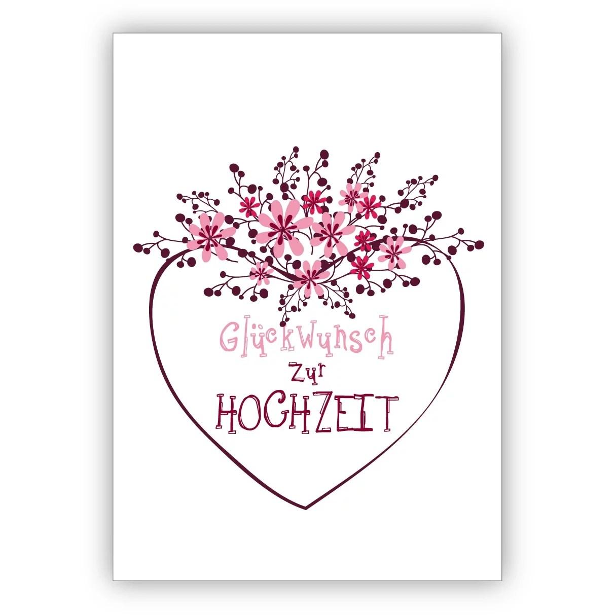Hochzeitskarte Blumenkranz 2 52