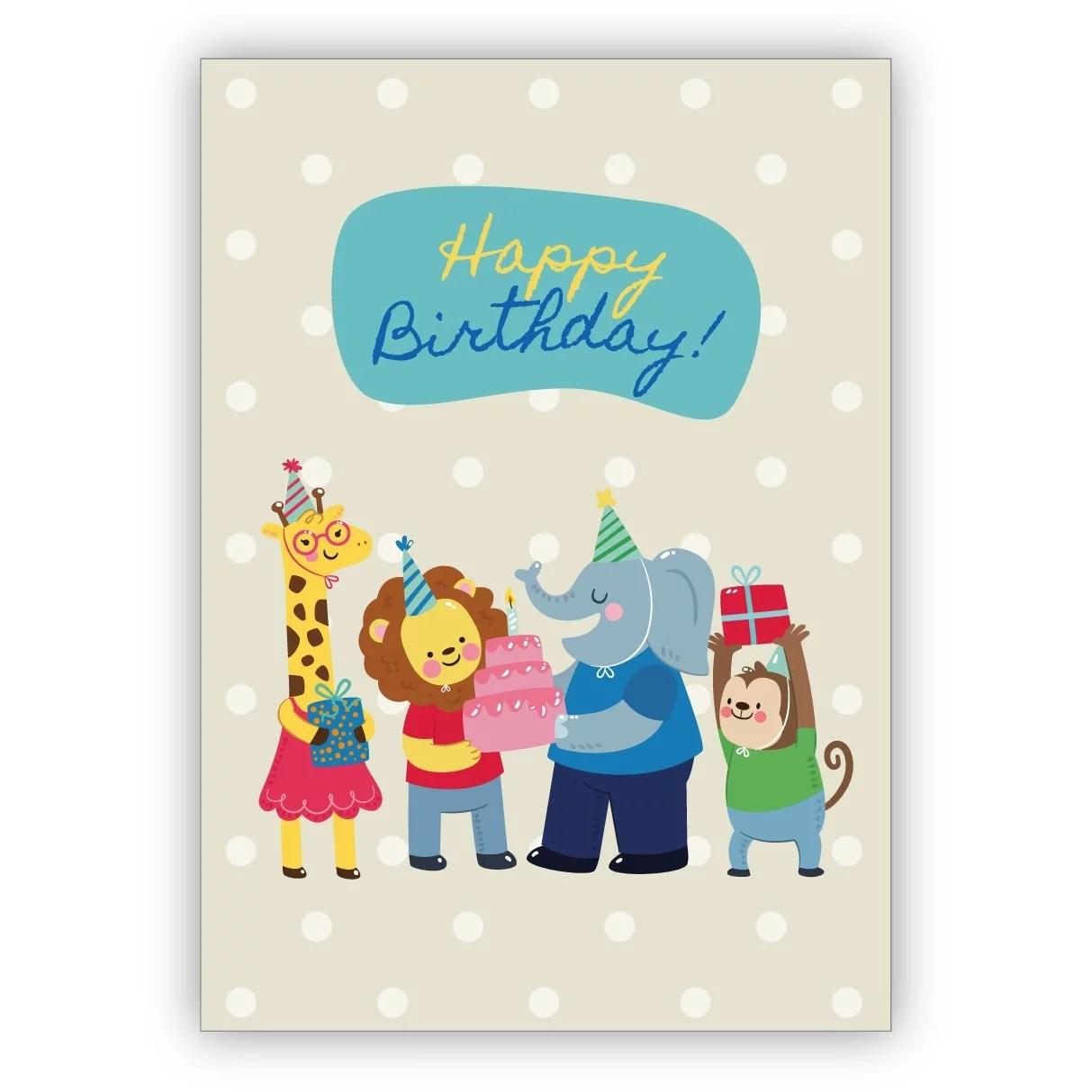 Schone Kinder Geburtstagskarte Zum 7 Geburtstag Mit Zirkus