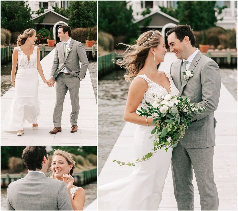 Capturing the some intimate moments during the first look at this Mallard Island Yacht Club Wedding