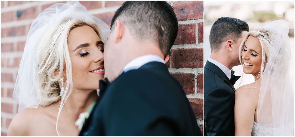 Capturing some fun moments during the portrait session at this Molly Pitcher Inn wedding