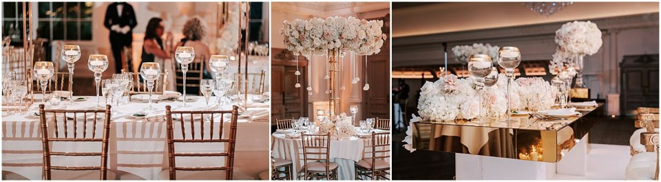 Some lovely decor in the reception ballroom at this Park Chateau Wedding