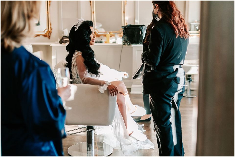 The beautiful salon setup at this Park Chateau Wedding