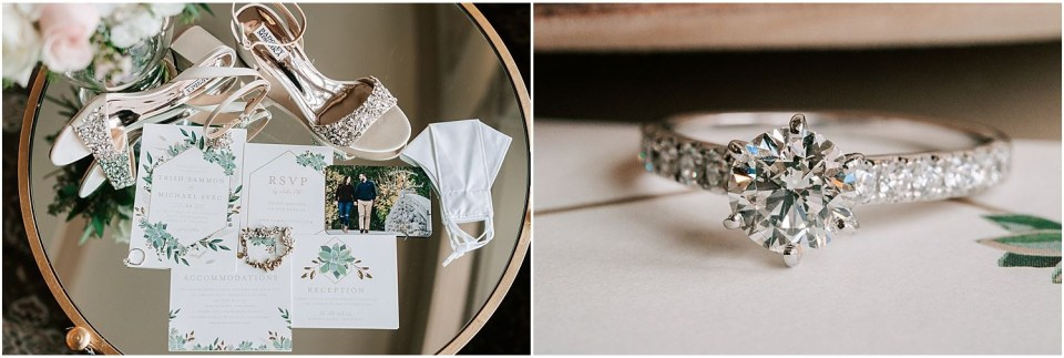 Some really close up details at this Olde Mill Inn Wedding