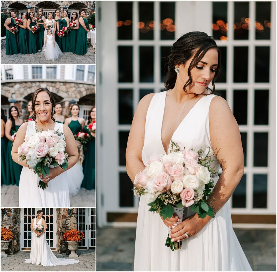 fun captures of the bridal party at this Olde Mill Inn Wedding