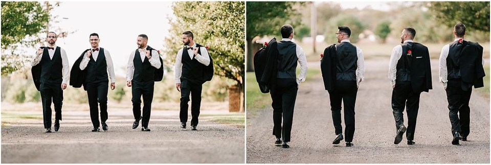 Some fun images of the groomsmen at this Valenzano Winery Wedding