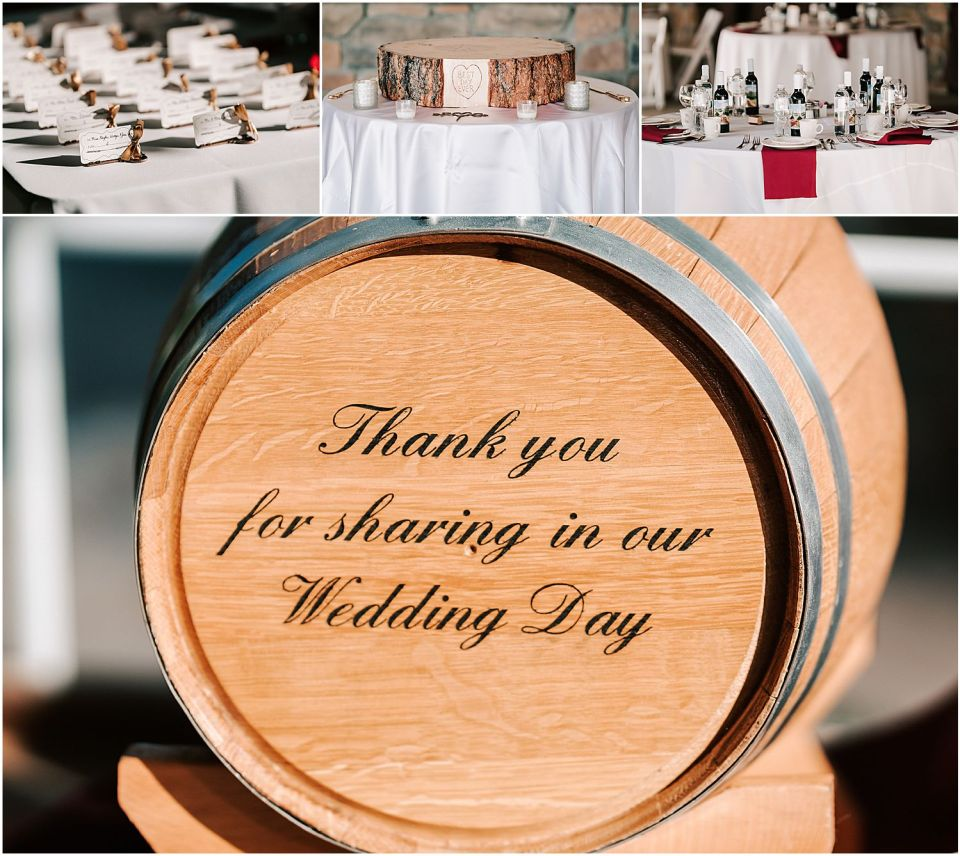 Some winery details at this Valenzano Winery Wedding