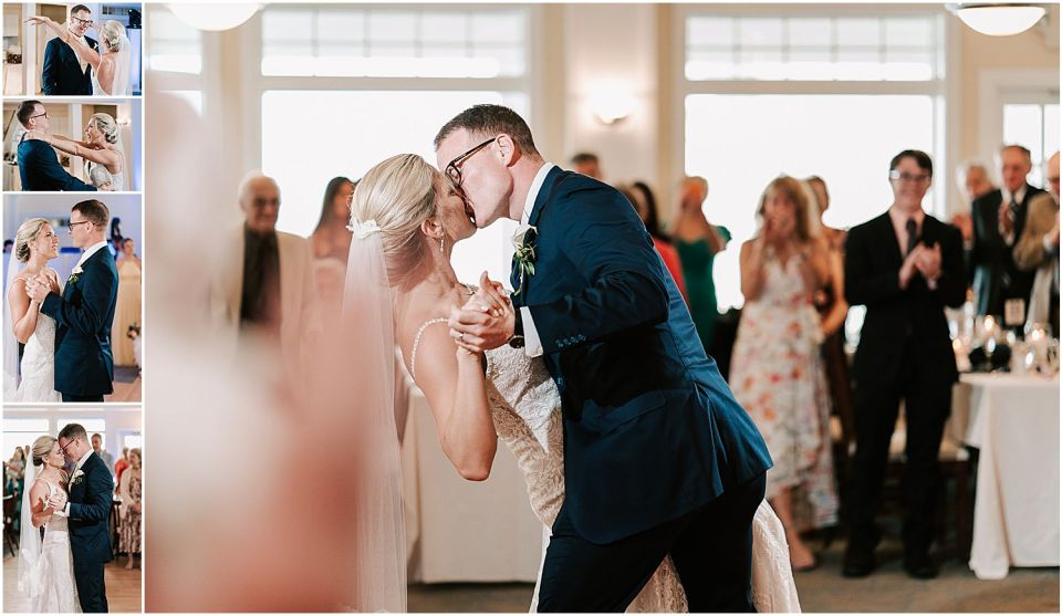 First dance at this Avalon Yacht Club Wedding