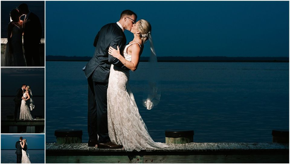 Fun night time shots with the couple at their wedding