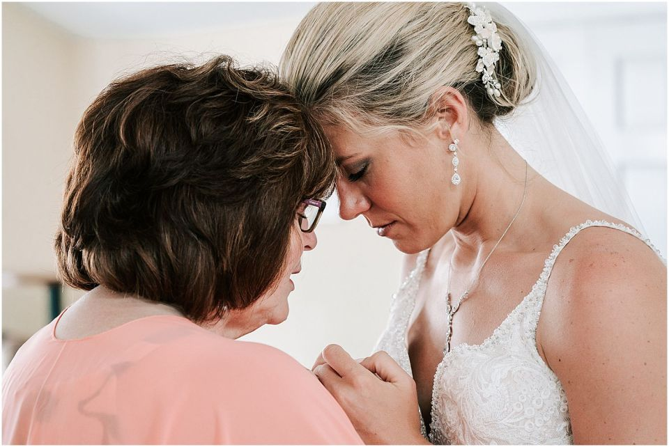 Mother Daughter Moment at this Avalon Yacht Club Wedding