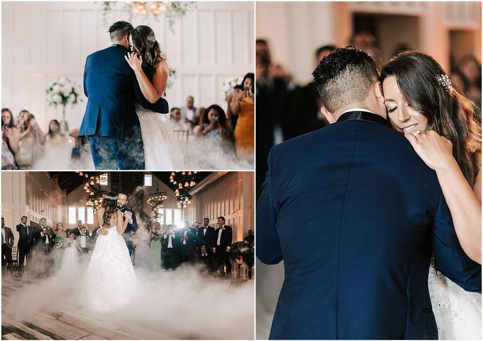 First dance at The Ryland Inn Wedding Venue