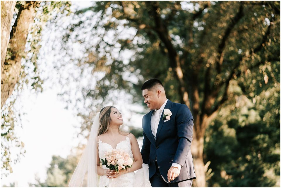 Couples portraits at this Woodcrest Country Club wedding