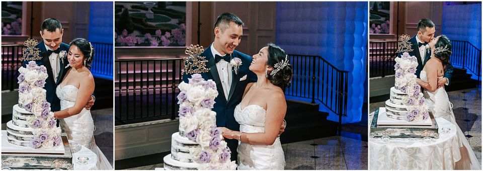Capturing the Cake cutting at this Il Villagio wedding venue