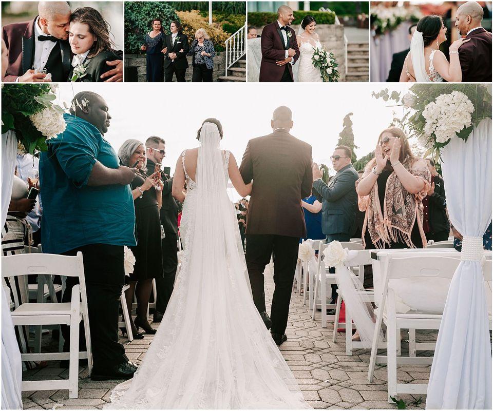 Wedding ceremony at the Marina Del Rey Wedding Venue