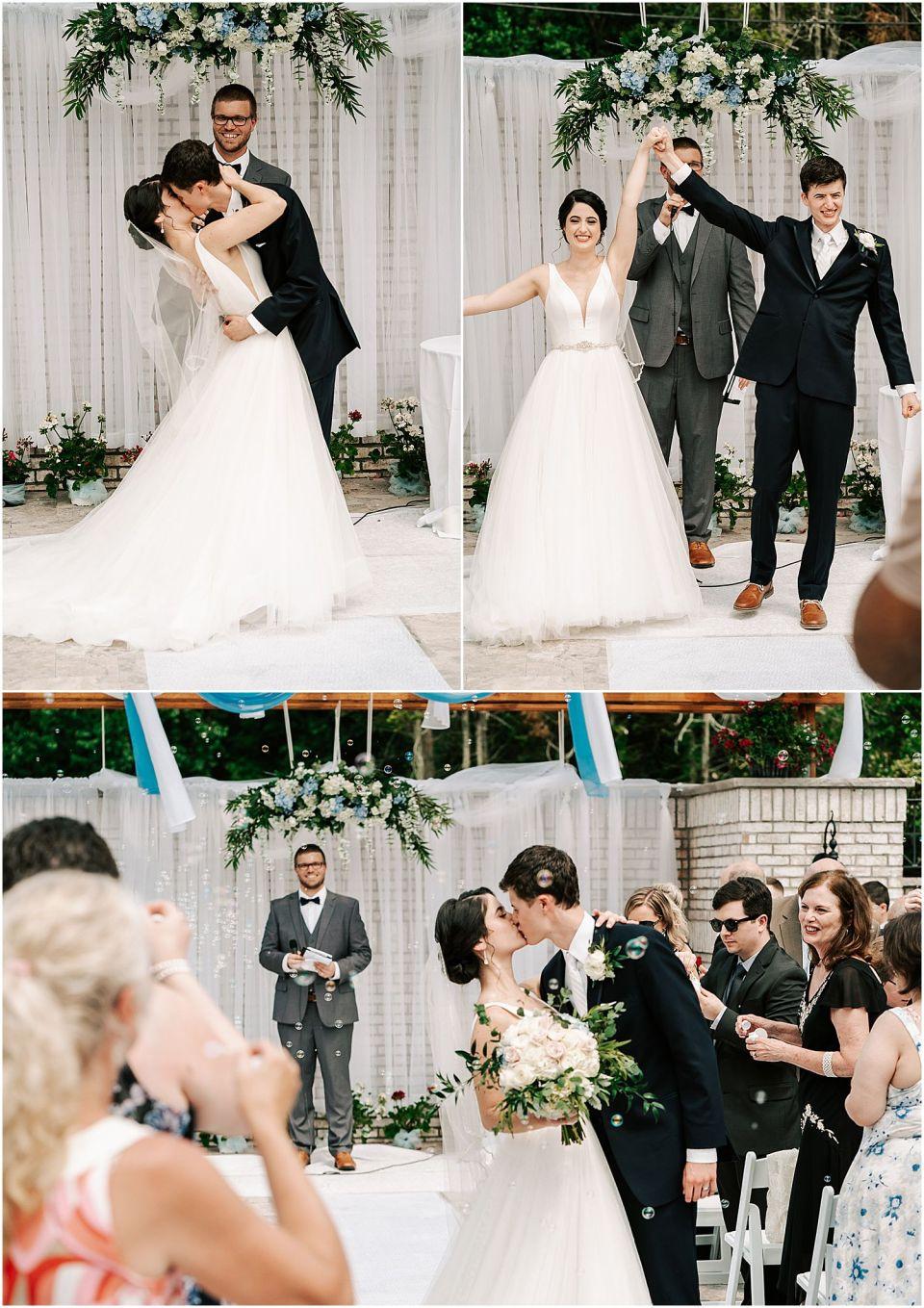 Wedding ceremony at The Grove at Centerton wedding venue