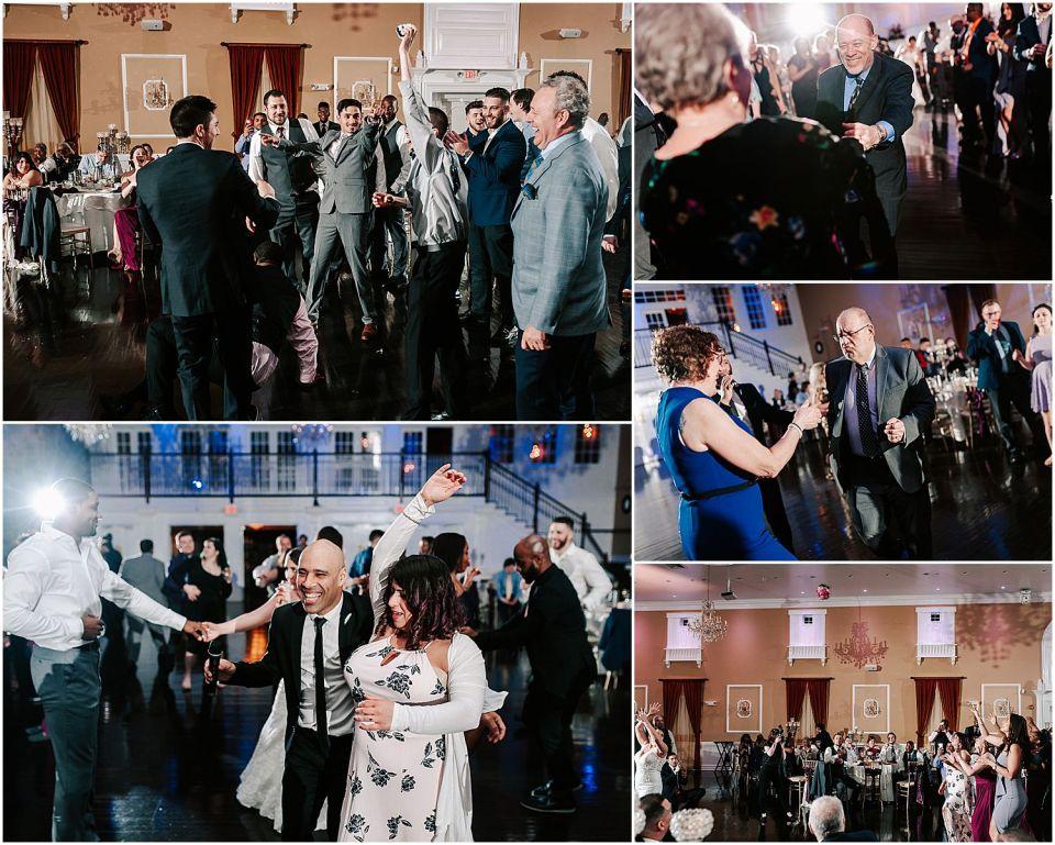 Party dancing at the beautiful Hamilton Manor wedding venue