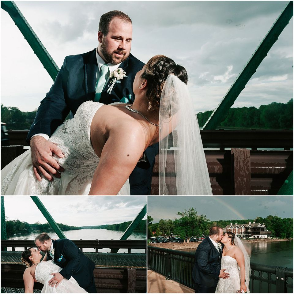 Capturing the some intimate moments during the first look at this Lambertville Station Wedding