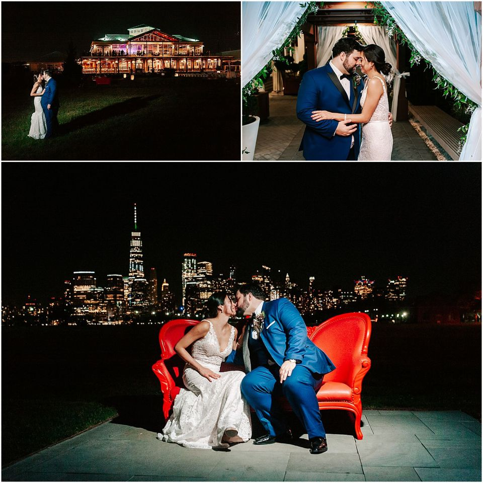Night time portraits at The Liberty House Wedding venue