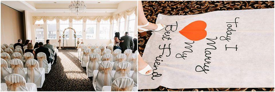 Ceremony Details at the Sunset Ballroom Wedding venue