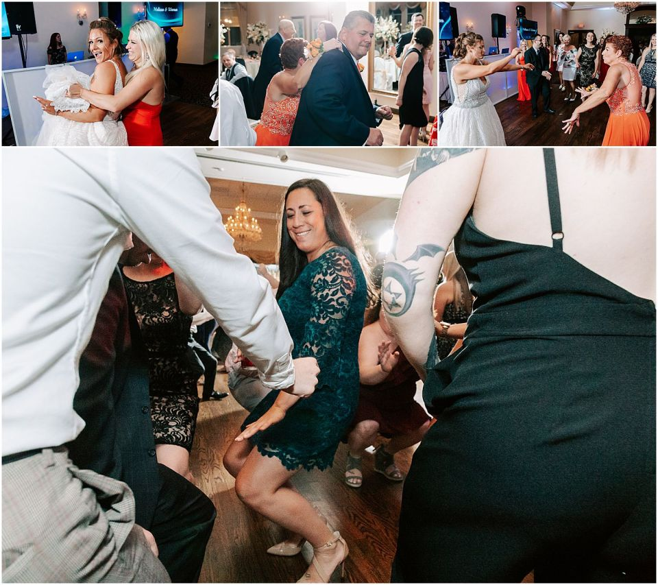 Party dancing at the Sunset Ballroom Wedding venue