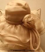 cappello da cerimonia in chiffon colore rosa pallido - collezione - la camelia collezioni