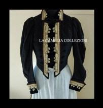 giacca domenicale da rappresentanza in panno ricamato fine 1800 - moda femminile 1800 - la camelia collezioni
