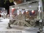 argenteria - formaggiera in vetro e argento - noleggio argenteria e posateria - la camelia collezioni