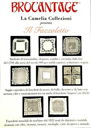 Brocantage aprile 2017 - locandina fazzoletti antichi ricamati- la camelia collezioni