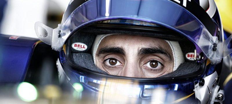 Close up of Sebastien Buemi point leader in the 2016 Formula E championship