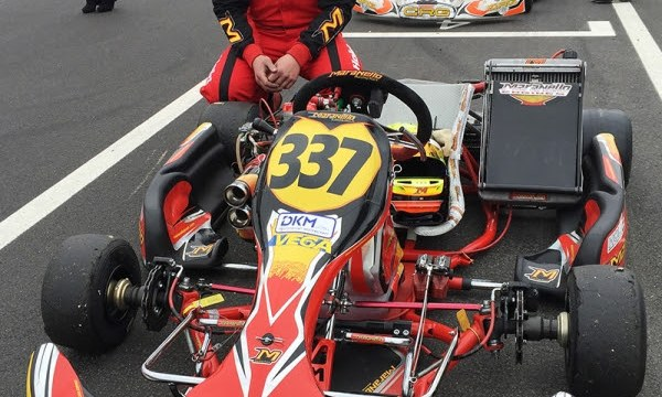 Christoph Hold, DMSB Shifterkart Cup KZ2 concentrating before the race