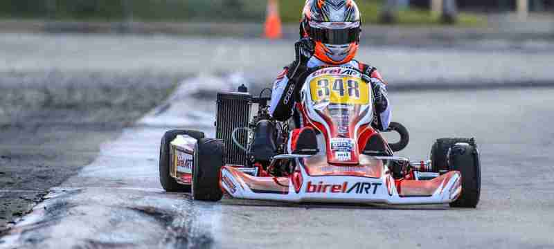 Ryan Norberg was a standout in Senior Max, taking pole