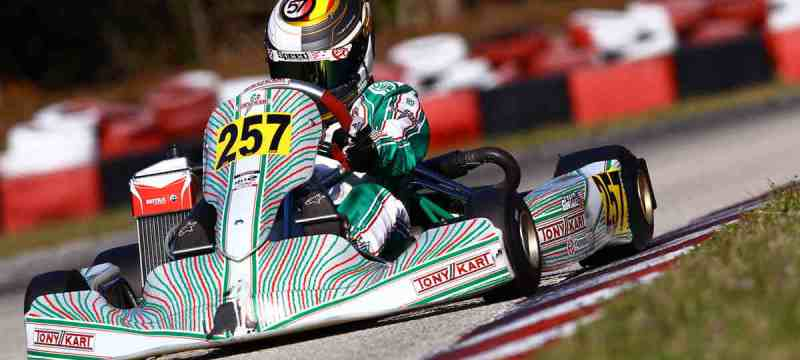 Tyler Gonzalez ran upfront in both Vortex ROK Junior and Rotax Junior