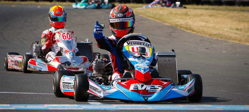 Braden Eves put Vemme Kart on top in SKUSA Pro Tour competition (Photo OTP.ca)