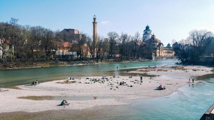 El río Isar en Múnich